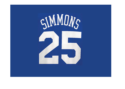 Ben Simmons - Philadelphia 76ers - Number 25 - Blue jersey - Zoom.