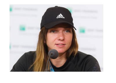 Simona Halep - French Open - Interview - Wearing adidas hat.