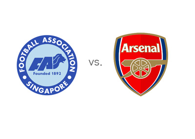 Singapore Football Association vs. Arsenal FC - Friendly game / Matchup - Team logos