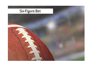 A large win-outright bet was placed on an NFL team.  It could produce a seven figure win.
