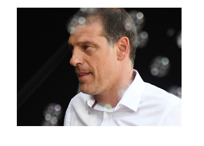 Slaven Bilic has a look of concern with the upcoming game against Tottenham Hotspur.  His job might be on the line.