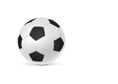 Soccer ball - Football - Clear image isolated on white.