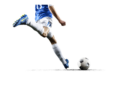 Biggest World Cup upsets in history - Soccer player about to hit the ball - Illustration.