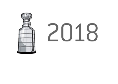 The Stanley Cup trophy 2018 is up for grabs.