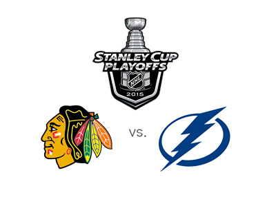 Stanley Cup Playoffs 2015 - Chicago Blackhawks vs. Tampa Bay Lightning - Team Logos / Matchup / Odds