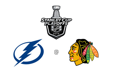 Stanley Cup Playoffs 2015 - Tampa Bay Lightning vs. Chicago Blackhawks - Preview, Odds and Team Logos