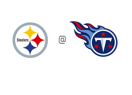 Pittsburgh Steelers - vs. Tennessee Titans - Team Logos / Amblems / Badges