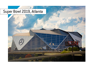 Super Bowl 2019 is taking place at the Mercedes Benz Stadium in Atlanta, Georgia.