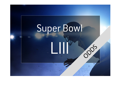 Super Bowl LIII - Betting odds - Concept graphic.