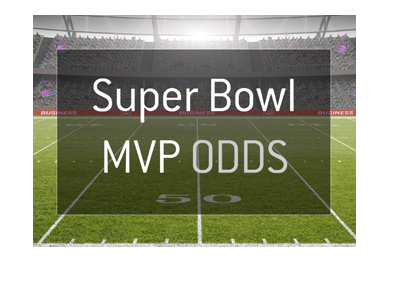 Super Bowl LII - MVP Odds - Graphic presentation - Bet on it.