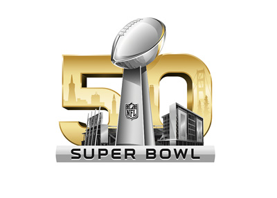 Football Super Bowl 50 - Official logo - Year 2016