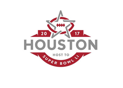 Temporary logo for Superbowl 51 in Houston - Year 2017