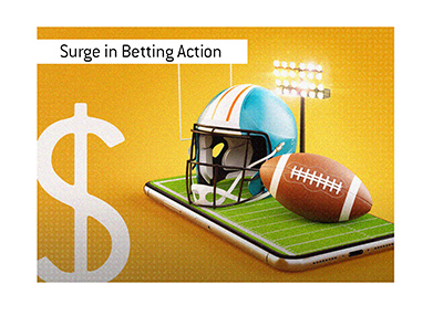 There is a surge in online betting action this year in the USA.
