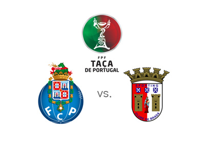 Taca de Portugal - FC Porto vs. FC Braga - 2015/16 - Tournament logo and team crests.  Betting odds and game preview.