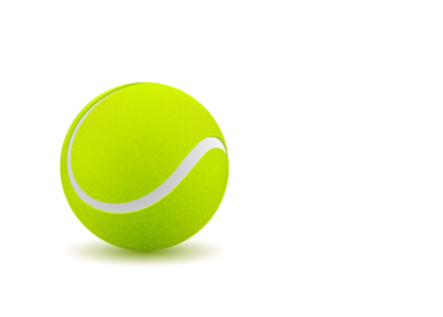 The illustration of a tennis ball.  Clean.  On white background.
