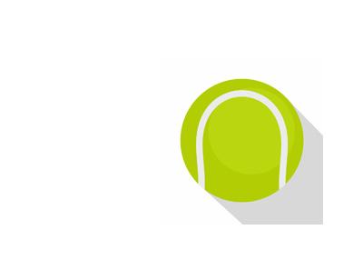 Tennis ball - Illustration - Simple.