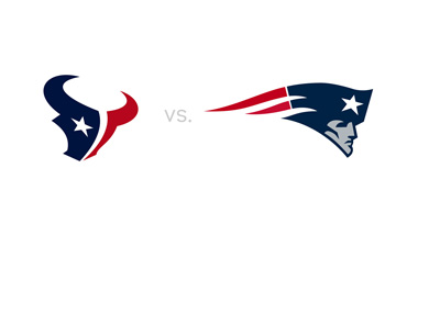 Houston Texans vs. New England Patriots - 2016/17 season - Matchup - Stylized logo presentation