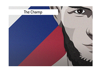 Arguably the most dominant champ in UFC history.  Khabib Nurmagomedov - Illustration.