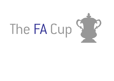 The alternative and unofficial logo for the FA Cup - Outlined and filled in light grey.