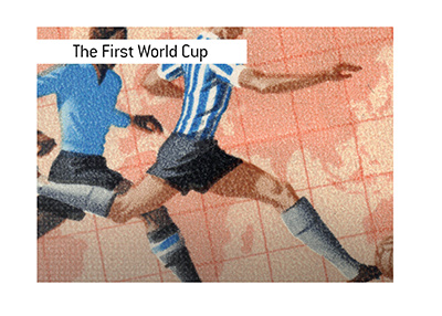 The first World Cup took place in Montevideo, Uruguay in 1930.