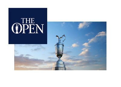 The Open - Golf championship - Tournament logo and trophy