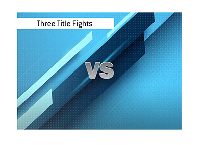 Three title MMA fights are planned for the big event.