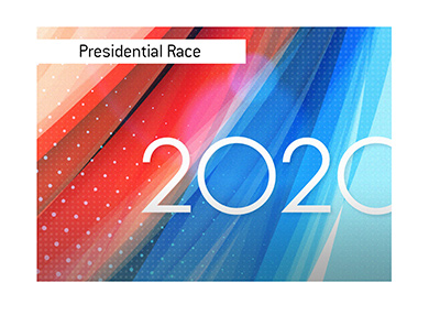 The 2020 presidential election in the US is as tight as ever.  Illustration.