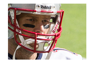 The New England Patriots quarterback - Tom Brady - Close-up shot.