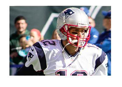 Tom Brady of New England Patriots - In action - Number twelve