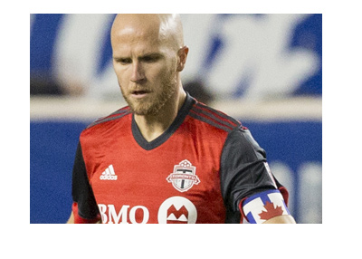 Toronto FC captain - Michael Bradley - In action.  The year is 2017.
