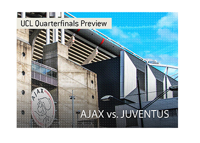 Ajax will host Juventus in the first leg of the 2018/19 Champions League quarter finals.  Bet on the game!