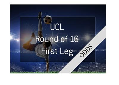 The UEFA Champions League - Round of 16 - Odds.  Scissor kick photo / illustration.