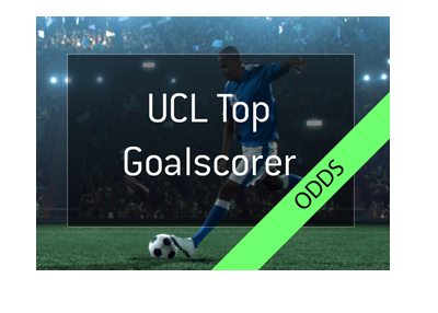 The UEFA Champions League top goalscorer odds - Illustration with text.