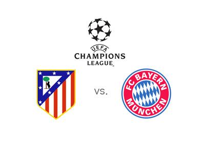The UEFA Champions League match - Atletico Madrid vs. Bayern Munich - Game odds and favourite to win