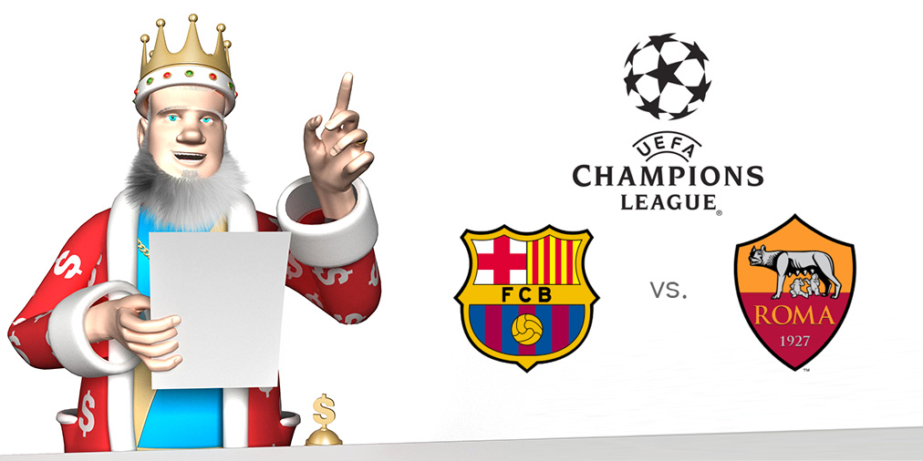 The King presents the matchup between Barcelona and AS Roma taking place at Camp Nou on Matchday 5 of the UEFA Champions League - 24/11/2015