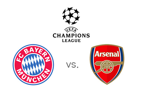 UEFA Champions League - Bayern Munich vs. Arsenal - Team Jersey Crests / Badges