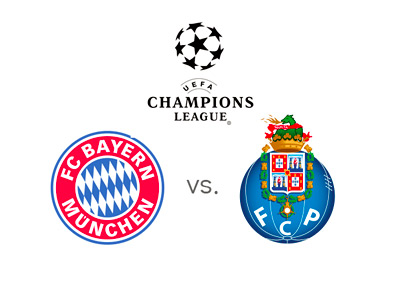 UEFA Champions League - Bayern Munich vs. Porto - Preview / Odds / Favourites - Tournament logo and team crests