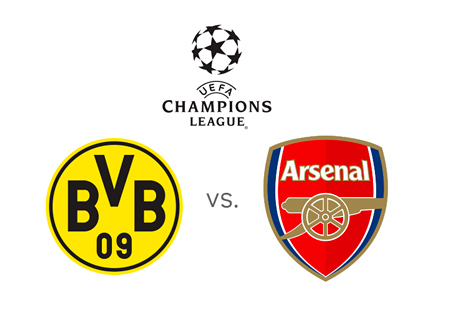 UEFA Champions League - Borussia Dortmund vs. Arsenal - Matchup and Team Logos