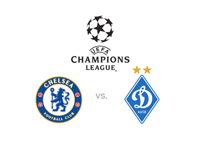 Chelsea FC vs. Dynamo Kiev - UEFA Champions League matchup - Preview and odds - Logos
