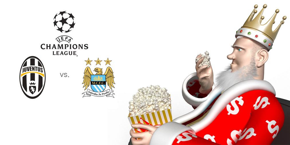 The King presents the upcoming Champions League matchup between Juventus and Manchester City