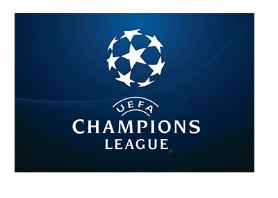 UEFA Champions League Logo - Blue Background