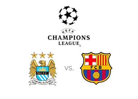 UEFA Champions League - Manchester City vs. Barcelona - Betting Odds - Preview - Logos