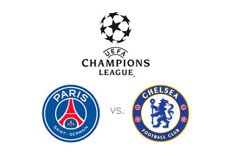 UEFA Champions League Matchup - Paris Saint-Germain vs. Chelsea FC - Head to Head - Logos