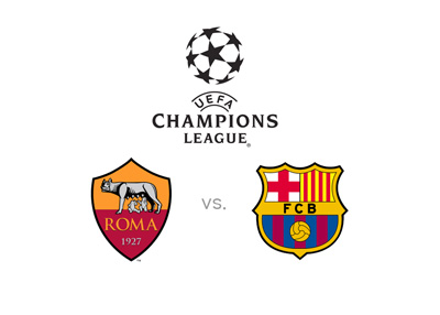 AS Roma vs. Barcelona FC - UEFA Champions League - Matchup / odds / preview - Team logos
