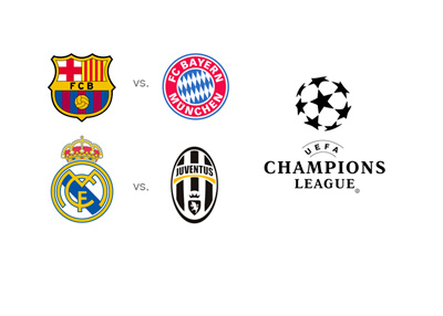 UEFA Champions League semi-finals - 2014/15 - Barcelona vs. Bayern and Real Madrid vs. Juventus