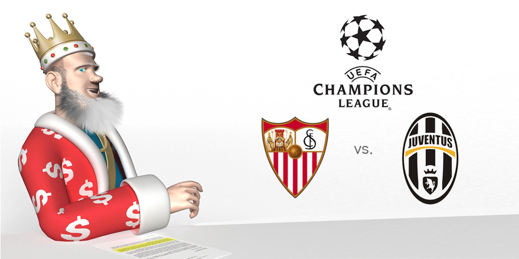 The King presentes the UEFA Champions League matchup between Sevilla and Juventus - Who is the favourite to win?