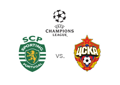 Sporting Lisbon vs. CSKA Moscow - UEFA Champions League matchup and winning odds - Team logos