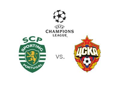 Sporting Lisbon vs. CSKA Moscow - UEFA Champions League matchup and winning odds - Team logos