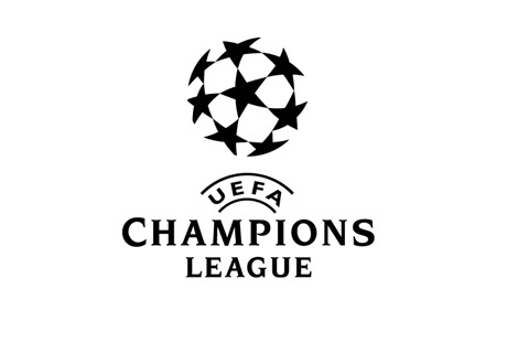 The UEFA Champions League Logo - Large Size - Black on White