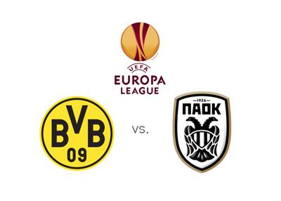 UEFA Europa League matchup - Borussia Dortmund vs. PAOK Salonika - Matchup and preview